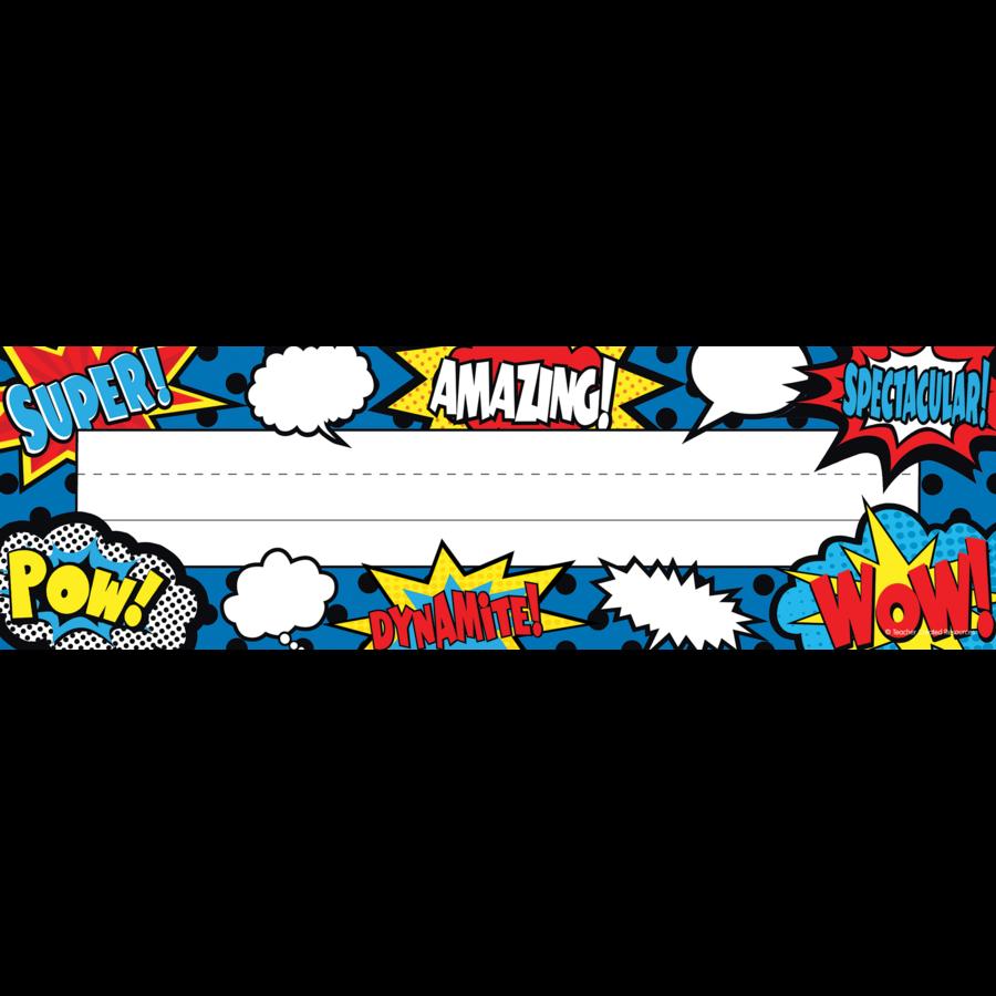 Superhero Flat Name Plates Tcr5588 Teacher Created