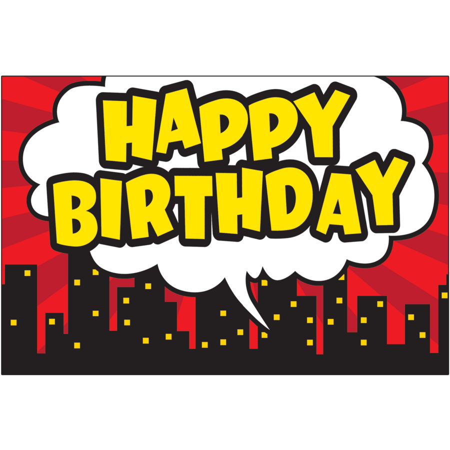 Superhero Happy Birthday Postcards - TCR5605