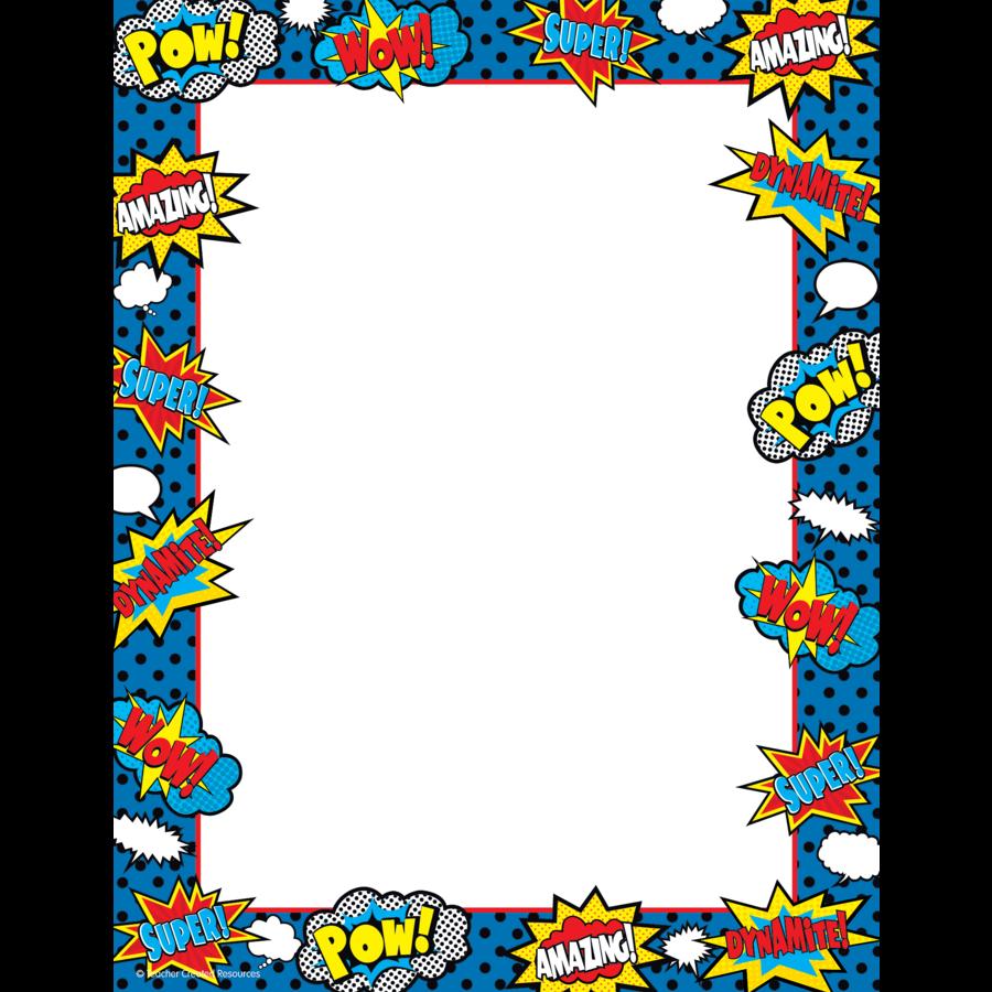 Superhero Computer Paper - TCR5629 | Teacher Created Resources
