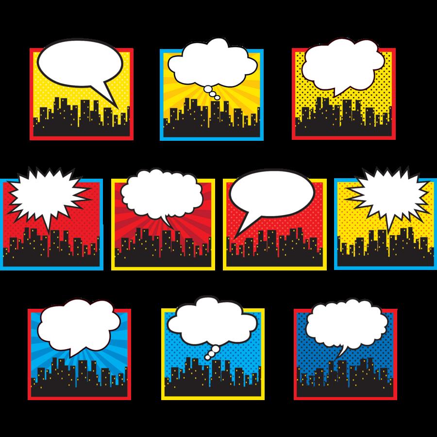 Superhero Cityscape Accents Tcr5826 Teacher Created