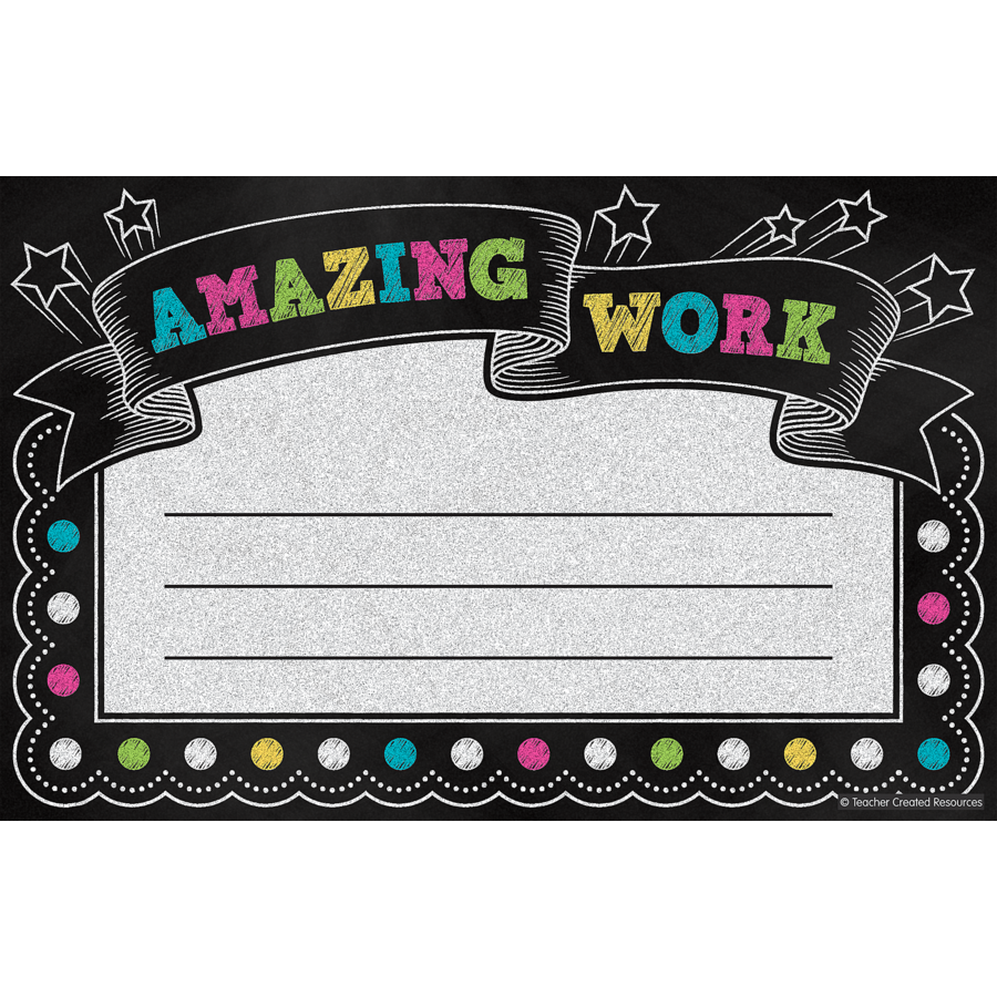 Amazing Work: Chalkboard Brights Amazing Work Awards - TCR5836