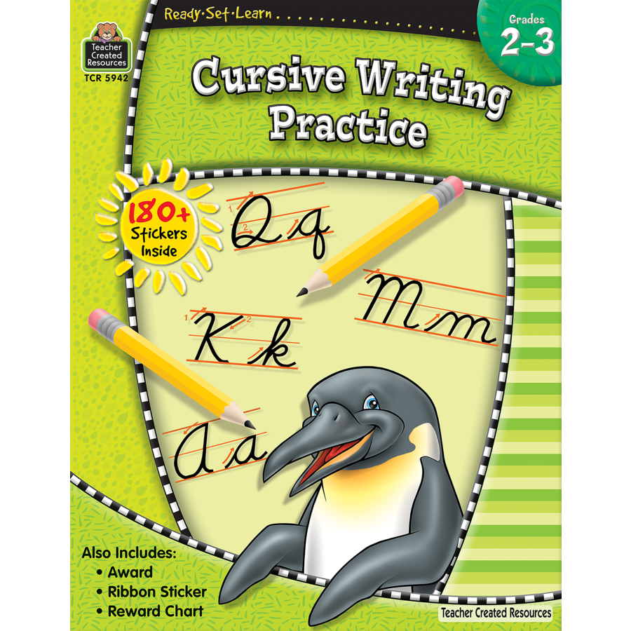 ready set learn cursive writing practice grade 2 3 tcr5942 teacher created resources. Black Bedroom Furniture Sets. Home Design Ideas