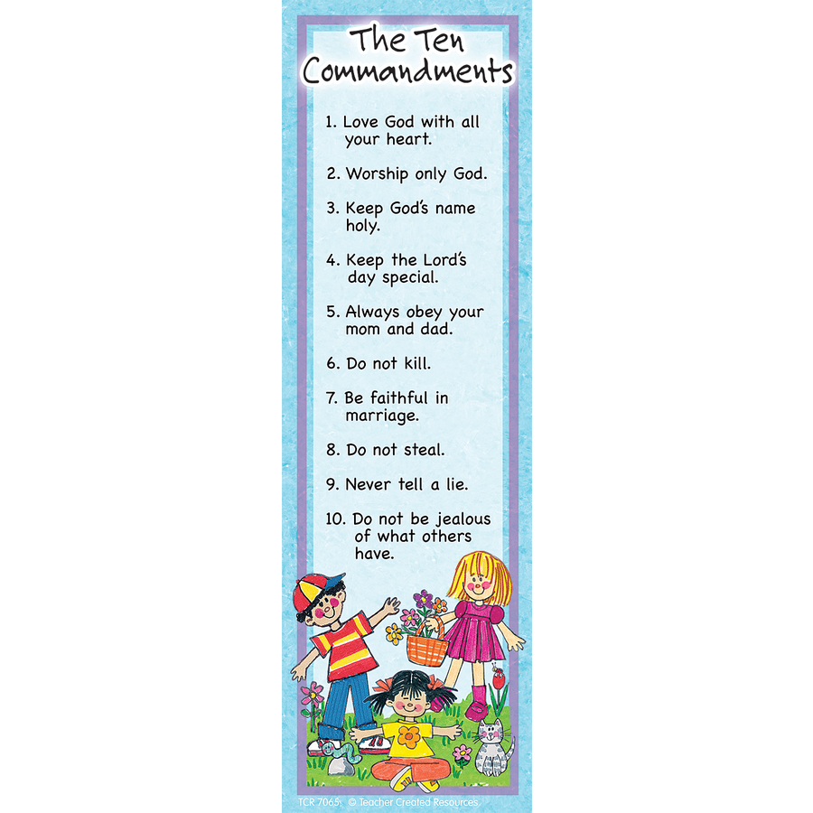 ten commandments bookmarks tcr7065 teacher created resources