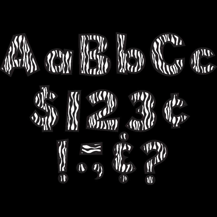 zebra 4 quot fun font letters tcr75126 teacher created resources