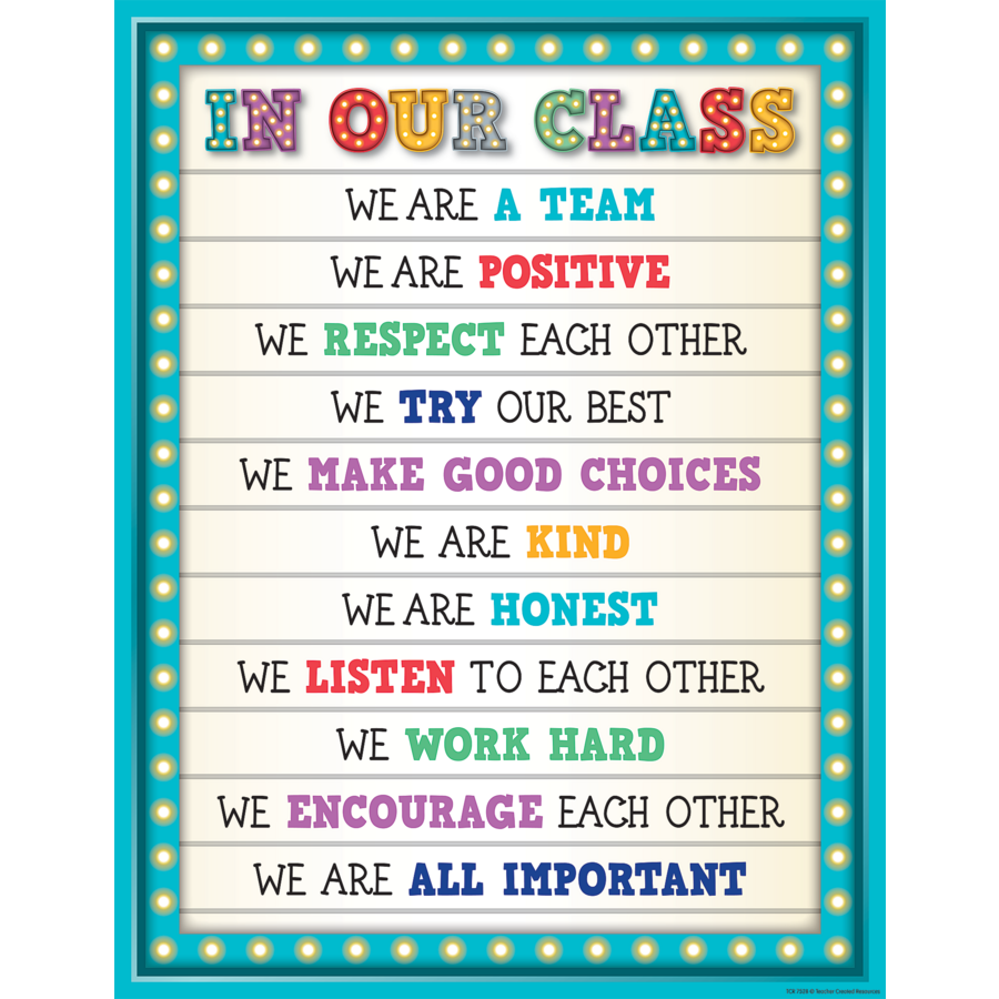 marquee in our class chart   tcr7528 teacher created