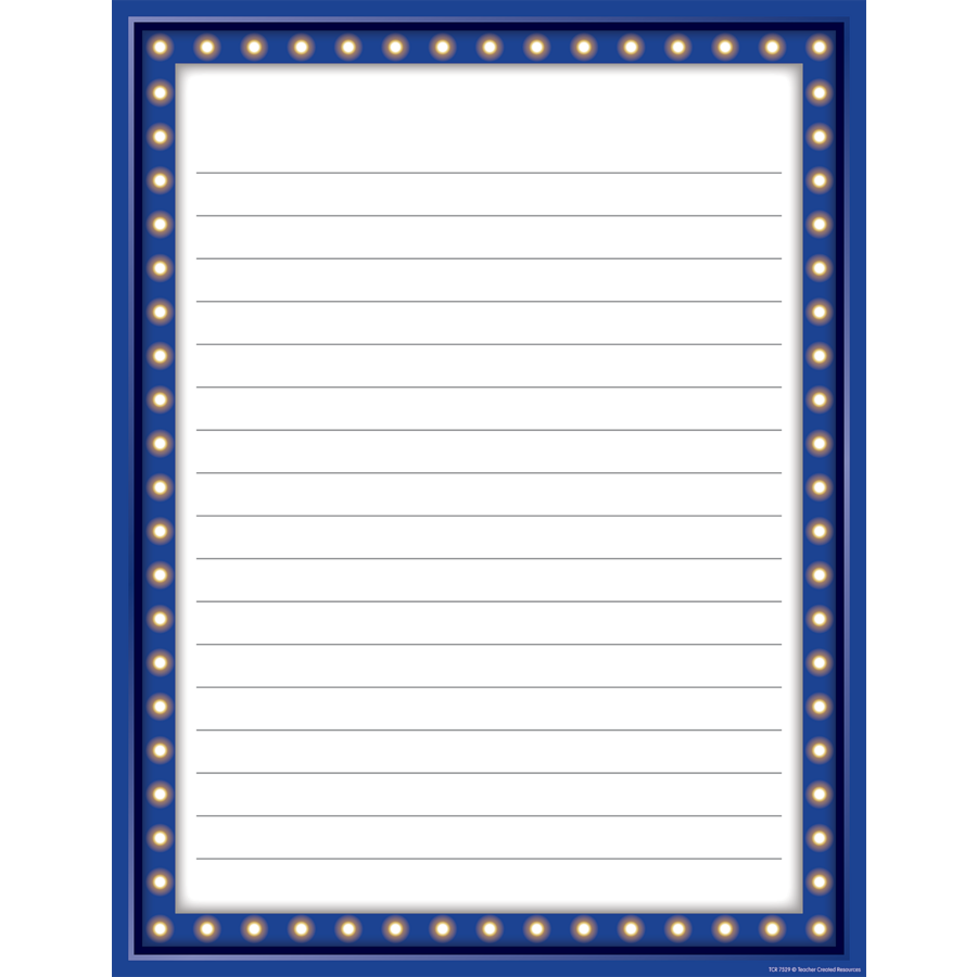 TCR7529 Marquee Lined Chart Image  Lined Chart Paper
