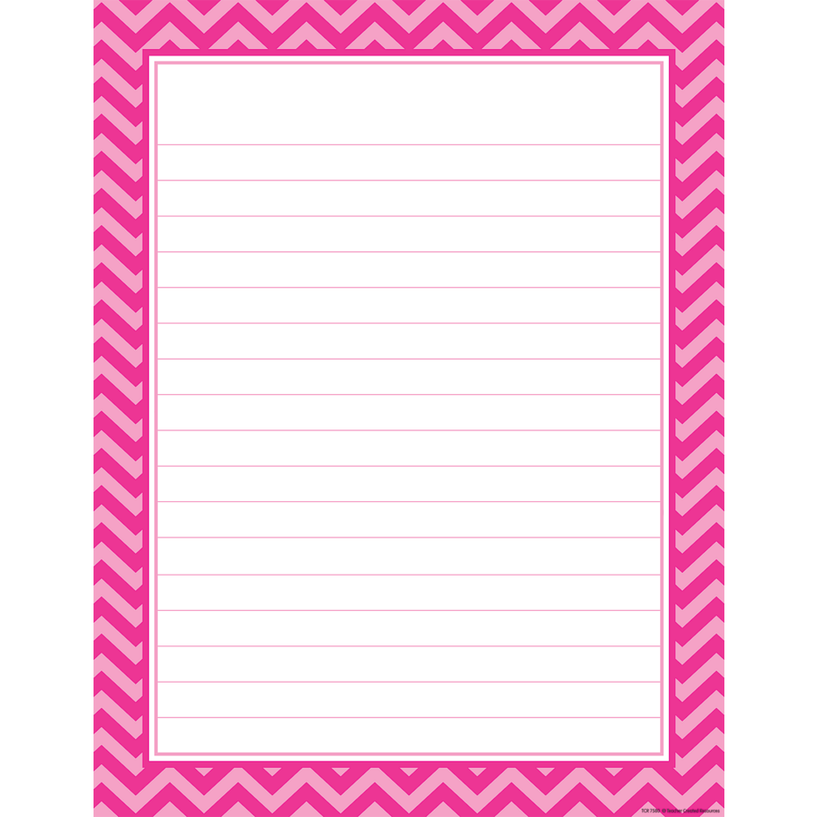 Hot Pink Chevron Lined Chart TCR7580 Products – Lined Chart Paper