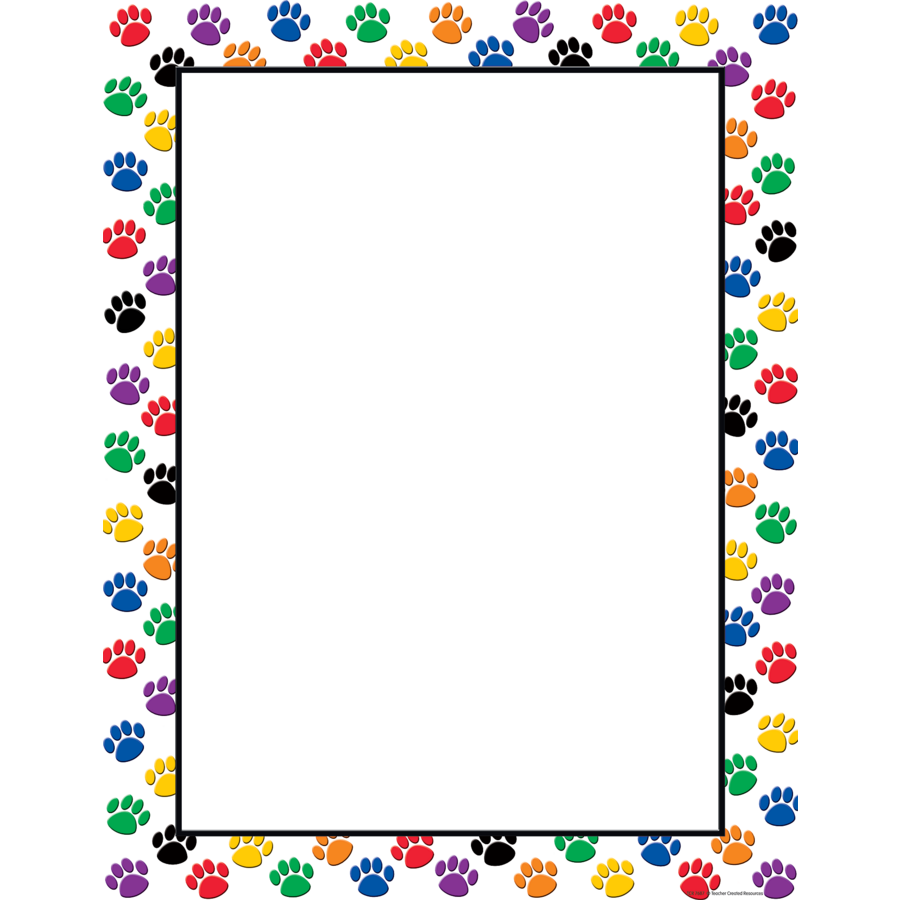 Colorful Paw Prints Blank Chart - TCR7687 « Products | Teacher ...