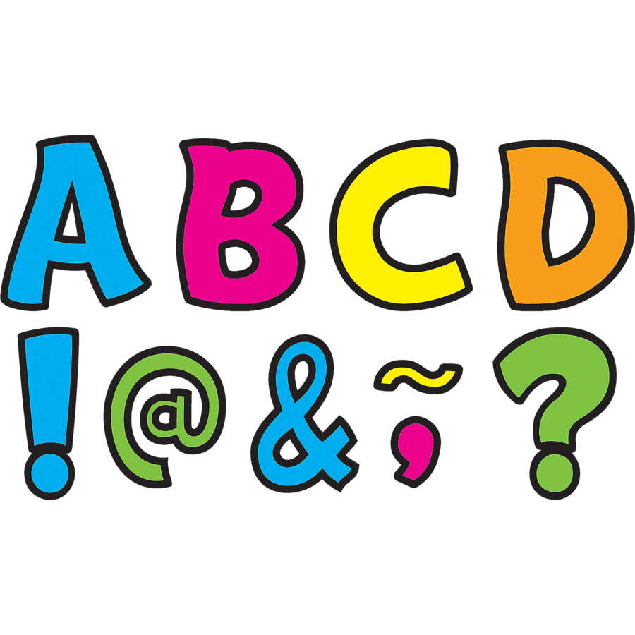neon brights funtastic font 3quot magnetic letters tcr77217 With 3 magnetic letters