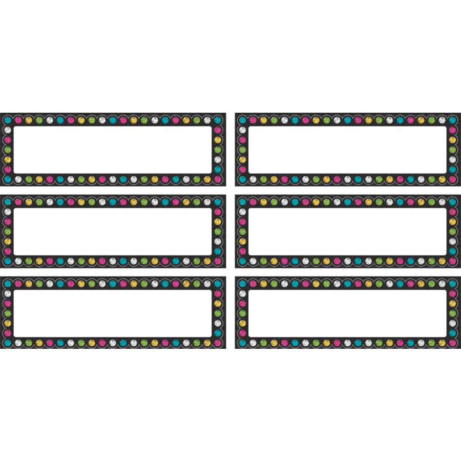 Chalkboard Brights Labels Magnetic Accents Tcr77299