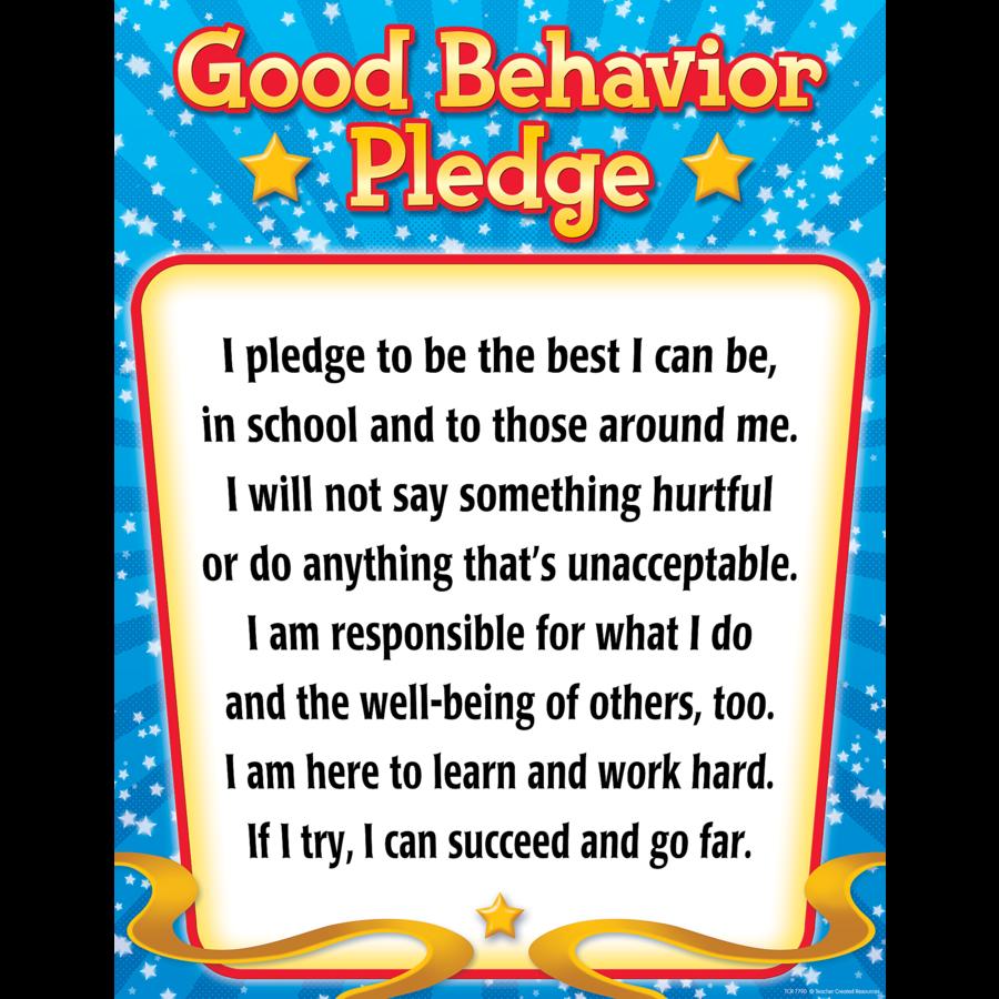 Good Behavior Pledge Chart - TCR7790 « Products | Teacher Created ...