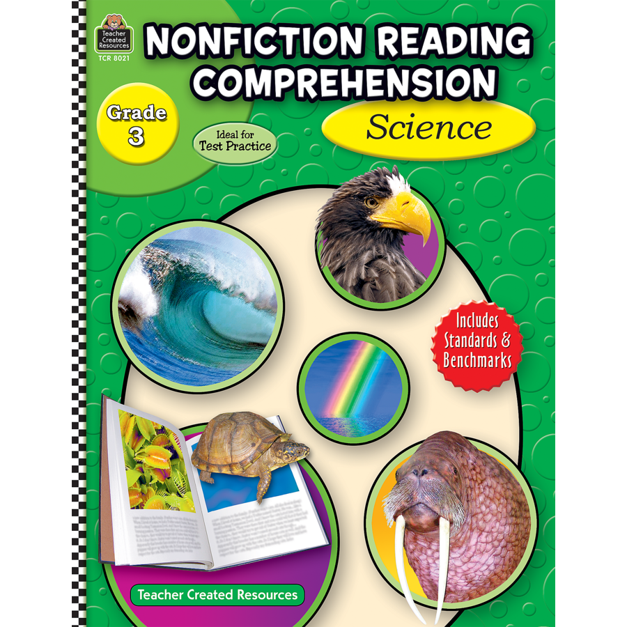 Nonfiction Reading Comprehension Science Grade 3 TCR8021 – Teacher Created Resources Worksheets
