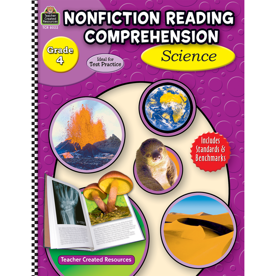 Nonfiction Reading Comprehension Science Grade 4 TCR8022 – Teacher Created Resources Worksheets