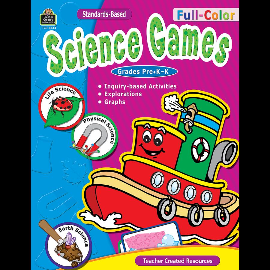 Color games for pre k - Tcr8334 Full Color Science Games Prek K Image