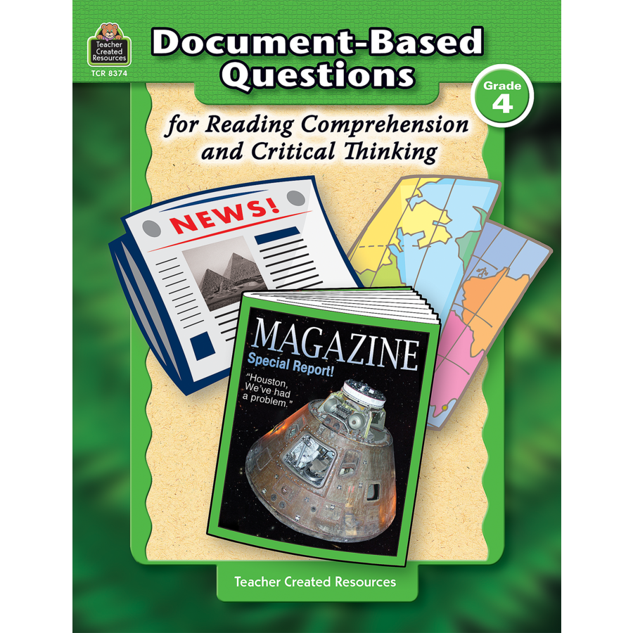DocumentBased Questions for Reading Comprehension and Critical – Teacher Created Resources Inc Worksheets Answers