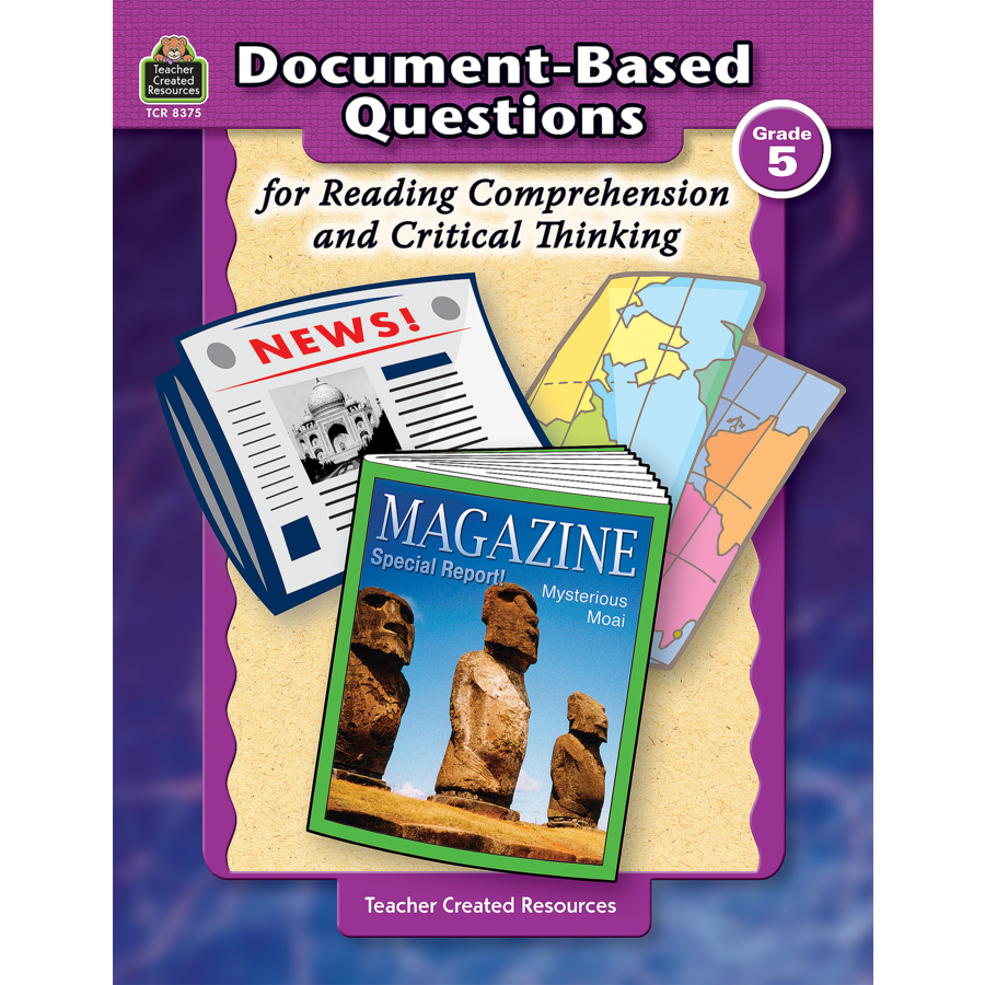 document based questions for reading comprehension and critical document based questions for reading comprehension and critical thinking grade 5 1
