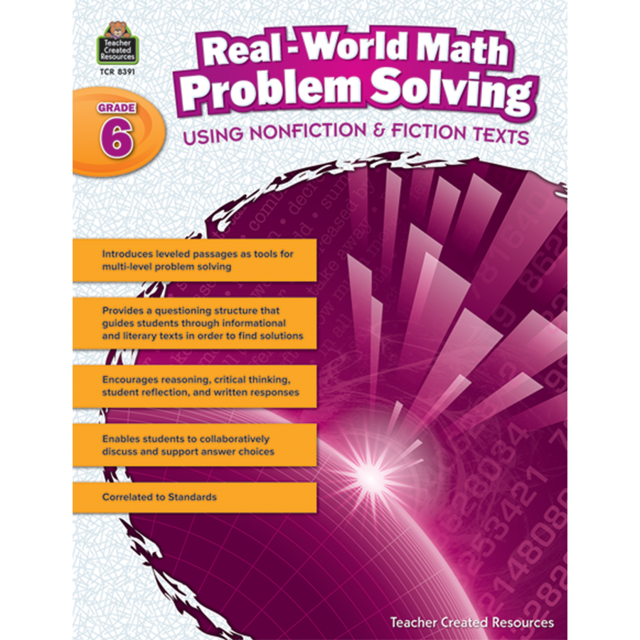 RealWorld Math Problem Solving Grade 6 TCR8391 – Teacher Created Resources Worksheets