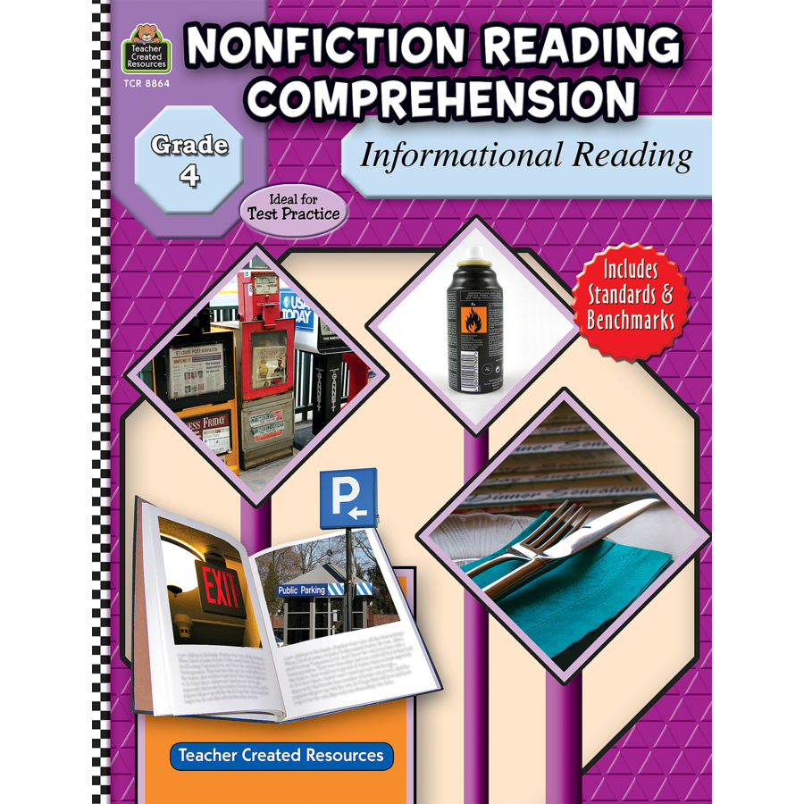nonfiction reading comprehension informational reading grade  tcr8864 nonfiction reading comprehension informational reading grade 4 image