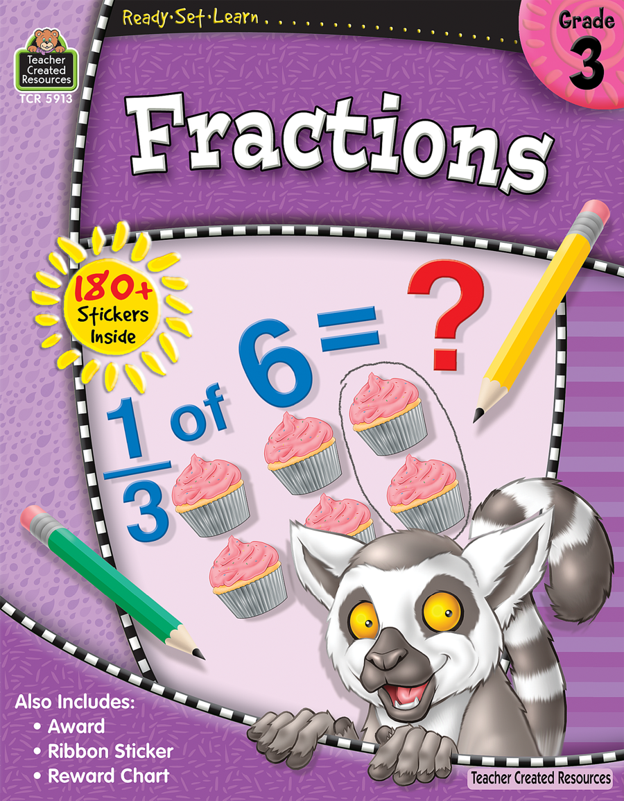 Ready set learn fractions grade 3 tcr5913 171 products teacher