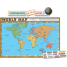 TCR4410 World Map (repositionable) Bulletin Board Display Set