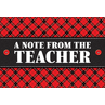 TCR5666 Plaid A Note From the Teacher Postcards