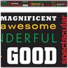 TCR5803 Positive Words Subway Art Straight Border Trim