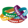 TCR6016 Happy Holidays Wristbands 10 Pack
