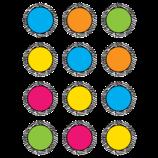 Zebra Colorful Circles Mini Accents