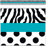 Zebra and Dots Straight Border Trim