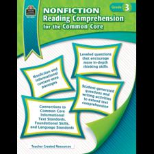 Nonfiction Reading Comprehension for the Common Core Grade 3