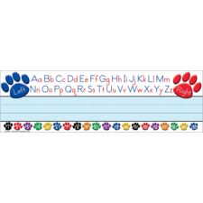 Paw Prints Left/Right Alphabet Flat Name Plates