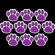 Purple Paw Prints Accents