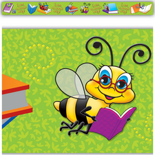 Book Bug Straight Border Trim