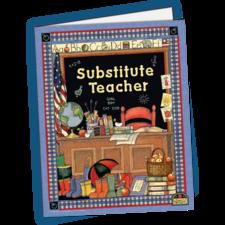 Substitute Teacher Pocket Folder from Susan Winget