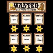 Wanted: Western Helpers Mini Bulletin Board