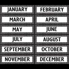 Black/White Crazy Circles Monthly Headliners