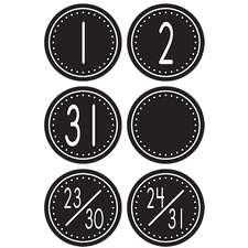 Black/White Crazy Circles Calendar Days