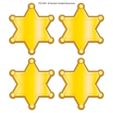 Western Sheriff Stars Wear 'Em Badges