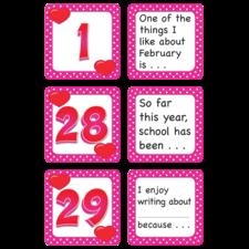February Polka Dots Calendar Days/Story Starters