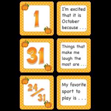October Polka Dots Calendar Days/Story Starters