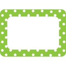 Lime Polka Dots 2 Name Tags/Labels