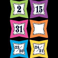 Colorful Zebra Prints Calendar Days