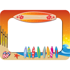 Surf's Up Name Tags/Labels