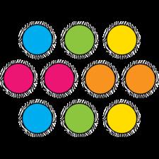 Zebra Colorful Circles Accents