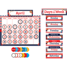 Nautical Calendar Bulletin Board Display Set