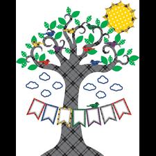 Plaid Tree Bulletin Board