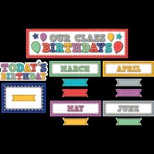 Marquee Our Class Birthdays Mini Bulletin Board