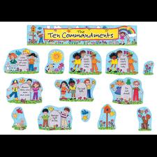 Children's Ten Commandments Bulletin Board Display Set