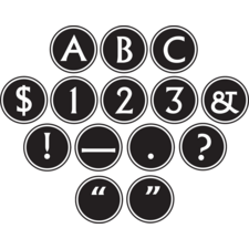 Big Bold Black & White Circle Letters
