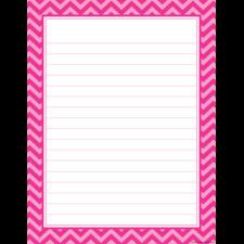 Hot Pink Chevron Lined Chart